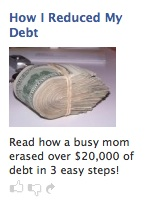 kellyad Debt Free Kelly   Reduce Your Debt Ads   The Facebook Ad Scam Trifecta